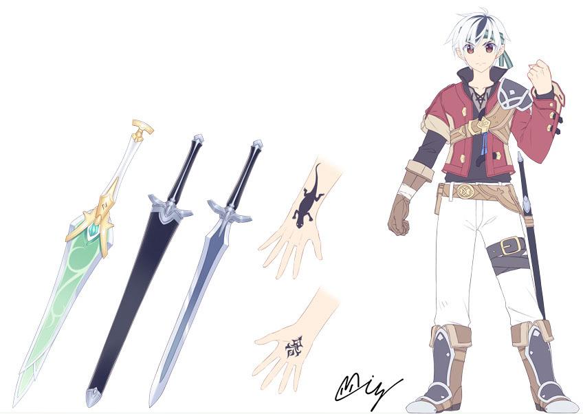 偽装の聖剣と竜装の戦姫-サイオン_初期設定ラフ