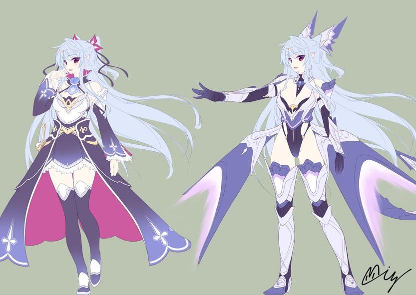 偽装の聖剣と竜装の戦姫-ルミカ_初期設定ラフ